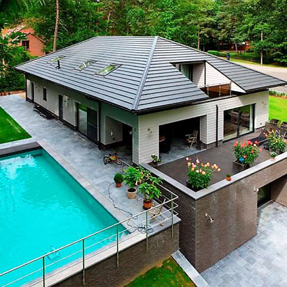 Vigo sa toiture en tuiles en terre cuite ou en b ton bruxelles - Tuile beton ou terre cuite ...